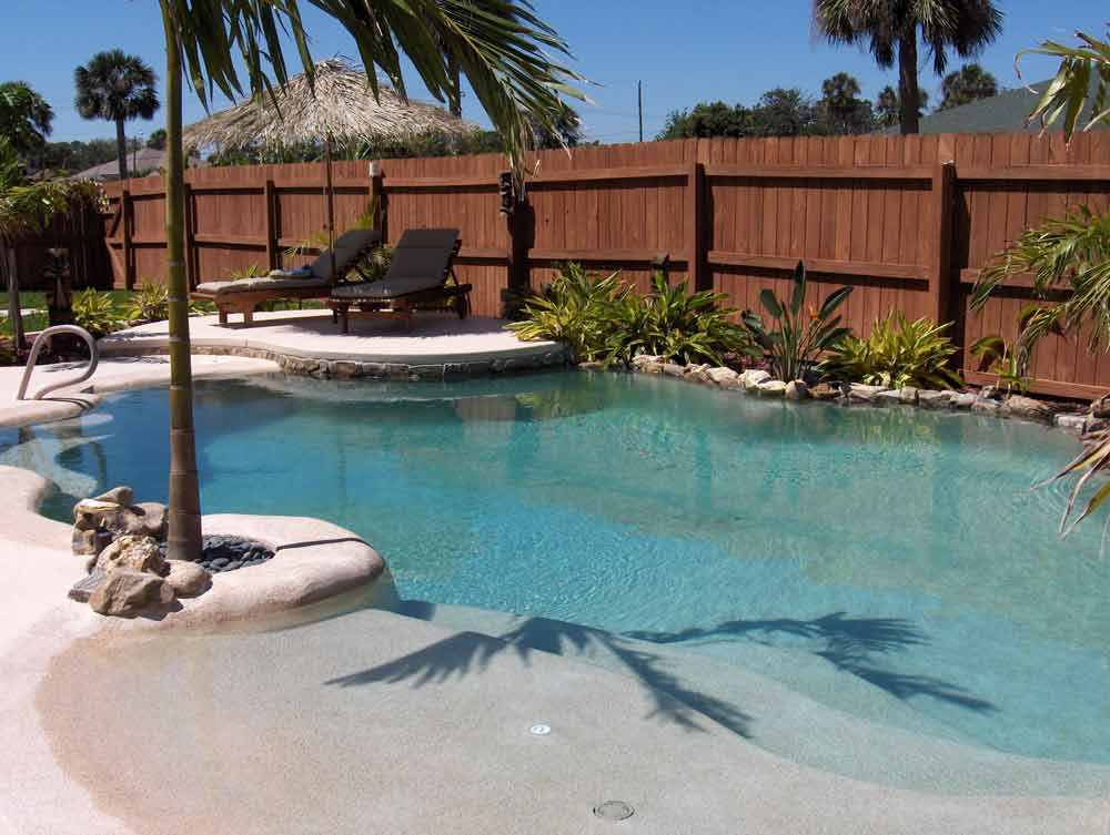 Unique pool designs hayward poolside blog for Pool design with beach entry